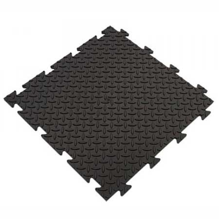TSCPBL Interlocking PVC Checker Plate Floor Tile 485mm Square