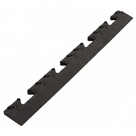 TSCPEFBL PVC checker plate edge female lug for interlocking floor tiles