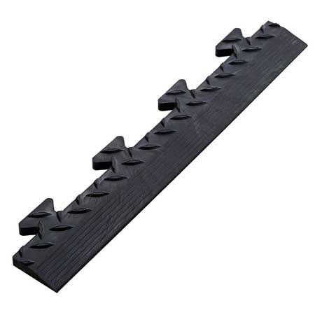 TSCPEMBL PVC checker plate edge male lugs for interlocking floor tiles