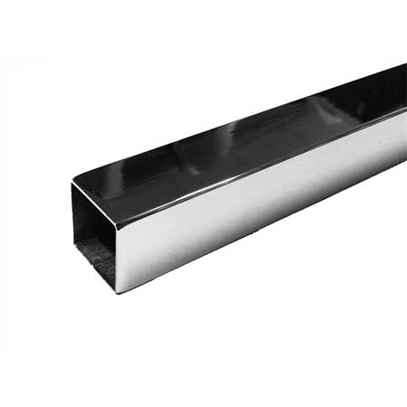 TZ3TCH - 3mtr Length of Chrome Steel Tube 25mm square for 25mm square tube system