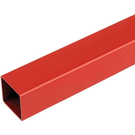 TSRD3 - 3mtr Length of Red Steel Tube 25mm square for 25mm square tube system