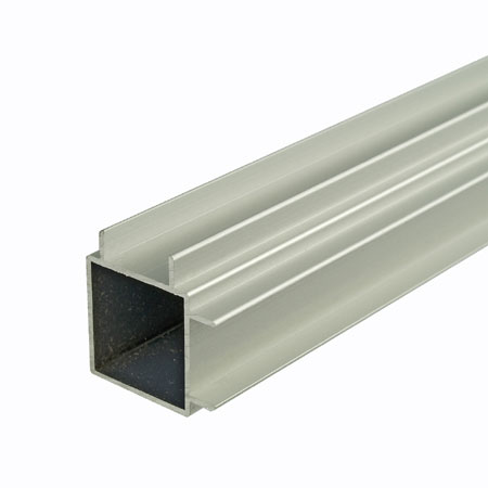 TZDF2FSCA - 2Mtr Double Finned 25mm Square Tube 2 Adjacent sides