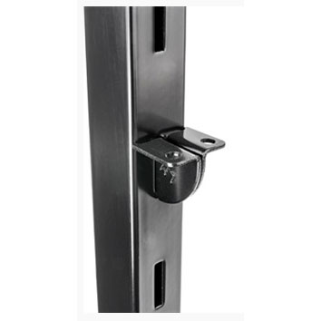 TZSCL/SS pair of adjustable shelf clips for use with slotted 25mm square tube