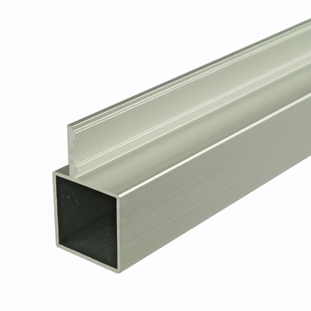 TZSFSCA - 2mtr Length of Single finned self colour aluminium tube 25mm square for 25mm square tube system