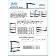 Download the Storage Shelving Systems datasheet