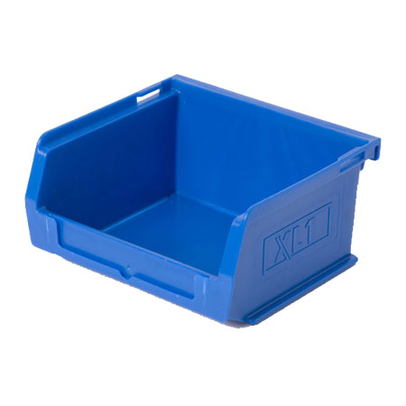 XL1B Blue Size 1 small parts picking bin 90mm deep x 100mm wide x 50mm high
