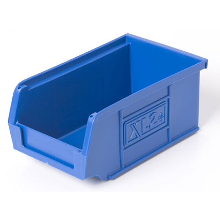 XL2B Blue Size 2 small parts picking bin 165mm deep x 100mm wide x 75mm high