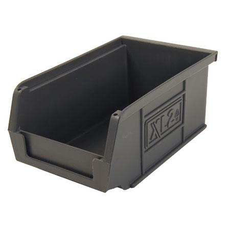 XL2ECO Grey Size 2 small parts storage bin 165mm deep x 100mm wide x 75mm high
