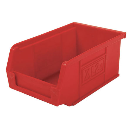 XL2R Red Size 2 small parts picking bin 165mm deep x 100mm wide x 75mm high