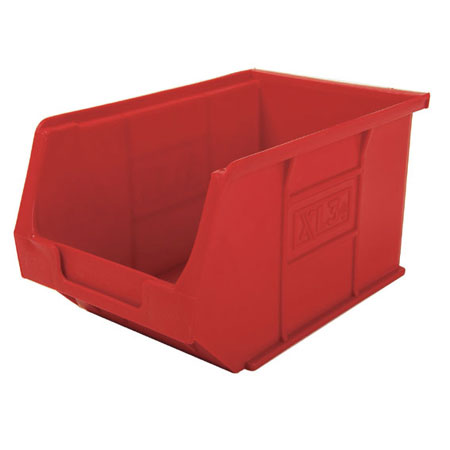 XL3R Red Size 3 small parts picking bin 240mm deep x 150mm wide x 125mm high