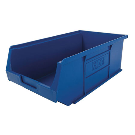 XL4B Blue Size 4 small parts picking bin 355mm deep x 200mm wide x 125mm high