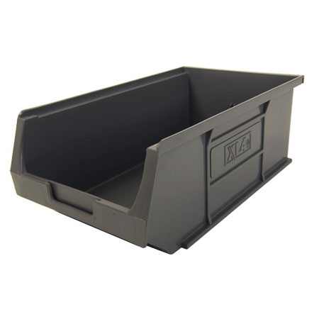 XL4ECO Grey Size 4 small parts storage bin 355mm deep x 200mm wide x 125mm high