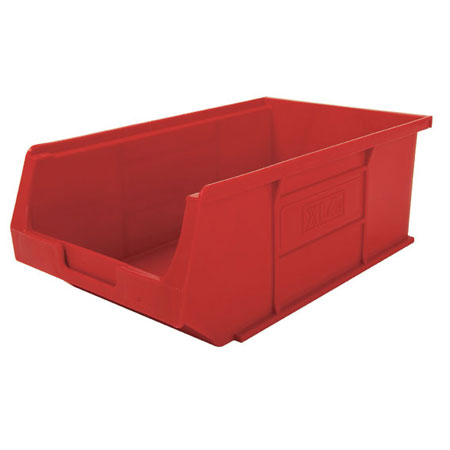 XL4R Red Size 4 small parts picking bin 355mm deep x 200mm wide x 125mm high
