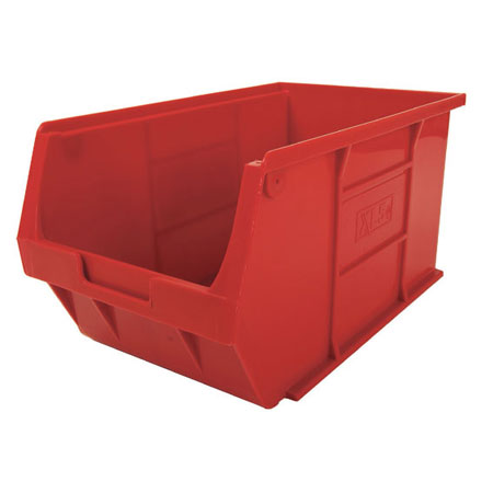 XL5R Red Size 5 small parts picking bin 355mm deep x 200mm wide x 175mm high