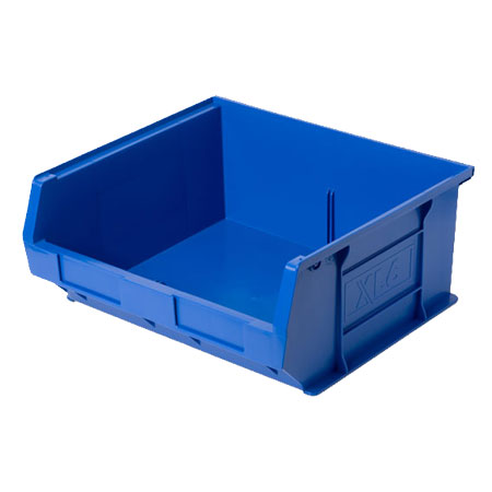 XL6B Blue Size 6 small parts picking bin 370mm deep x 420mm wide x 180mm high