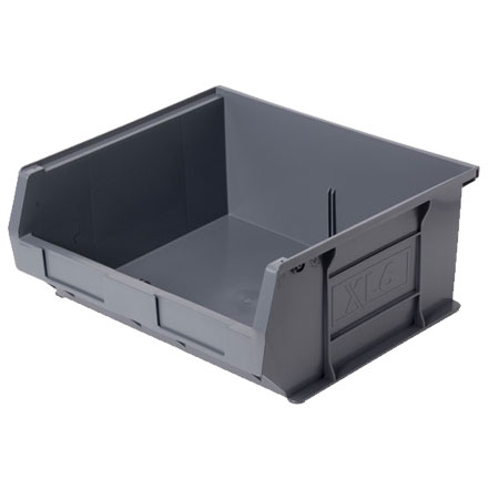 XL6ECO Grey Size 6 small parts storage bin 370mm deep x 420mm wide x 180mm high
