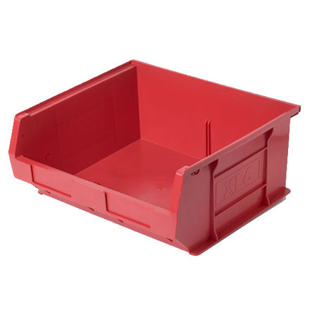 XL6R Red Size 6 small parts picking bin 370mm deep x 420mm wide x 180mm high