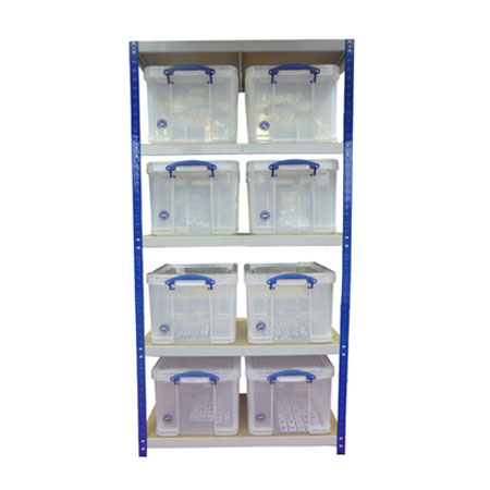 Really Useful Boxes Storage Sheving 8 x 35 Litre - 1770 x 900 x 450mm (HxWxD)