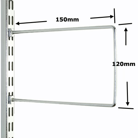 DFB150CH Sapphire Twin Slot Shelving Chrome Flexible Bookends 150mm (pack of 2)