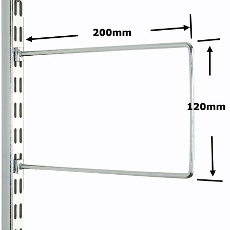 DFB200CH Sapphire Twin Slot Shelving Chrome Flexible Bookends 200mm (pack of 2)