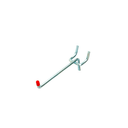 "PB095-2 50mm Single prong Peg Board Fitting for 19mm (3/4"") Pitch Pegboard"