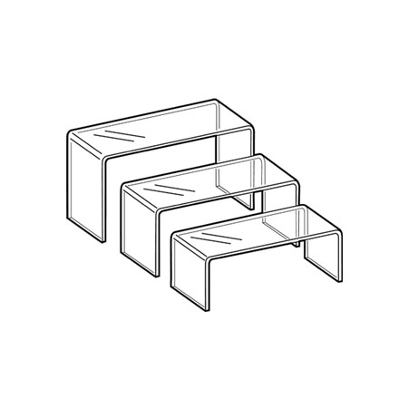 PS8481 Set of 3 Medium Display Plinths