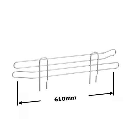 R918 610mm Wire Shelving Shelf Edge