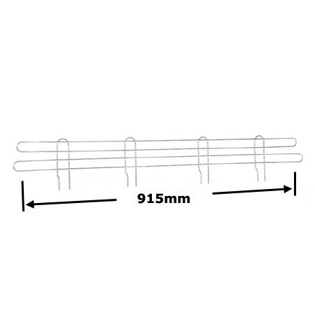 R919 915mm Wire Shelving Shelf Edge
