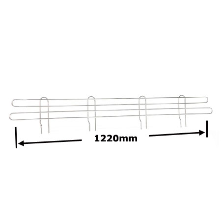R920 1220mm Wire Shelving Shelf Edge