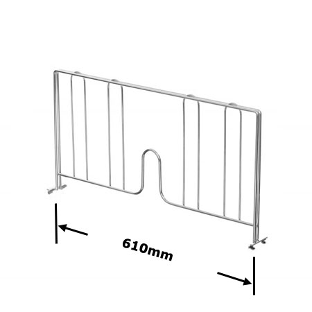 R924 610mm Wire Shelving Shelf Divider
