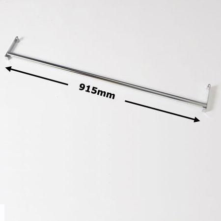 R930 - 915mm Wire Shelving Garment Rail