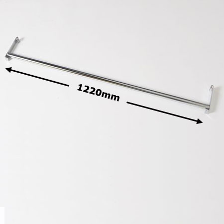 R931 - 1220mm Wire Shelving Garment Rail