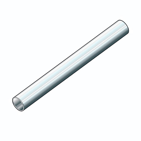 T253M - 3mtr length of 25mm diameter chrome plated round tube Heavy Duty